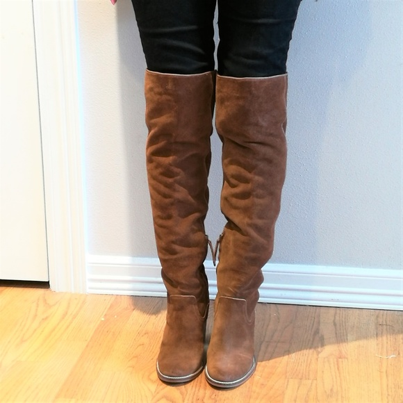 fcb168a08a3 Dolce Vista Cliff Suede Over-the-Knee Boots